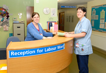 Labour ward - reception
